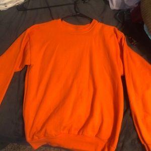 Plain Orange Crewneck